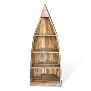 Solid Wood Nautical Boat Bookcase Book Shelf Bookcase Rustic Deco