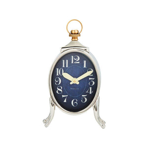 Sophia Loop-Top Table Desk Clock - Brass and Nickel - Rustic Deco Incorporated