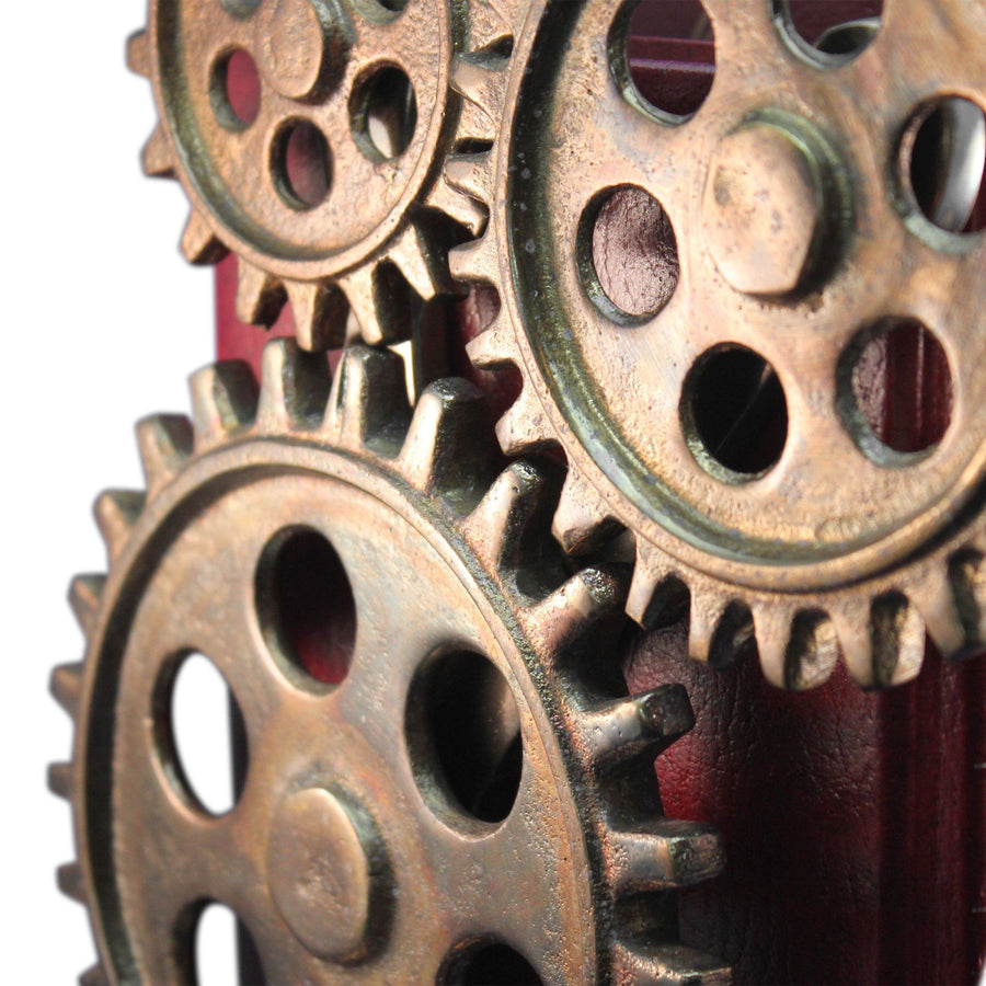 Premium Steampunk Bicycle Sprocket Bookends - Metal Cogs Gears - Pair Bookends Rustic Deco