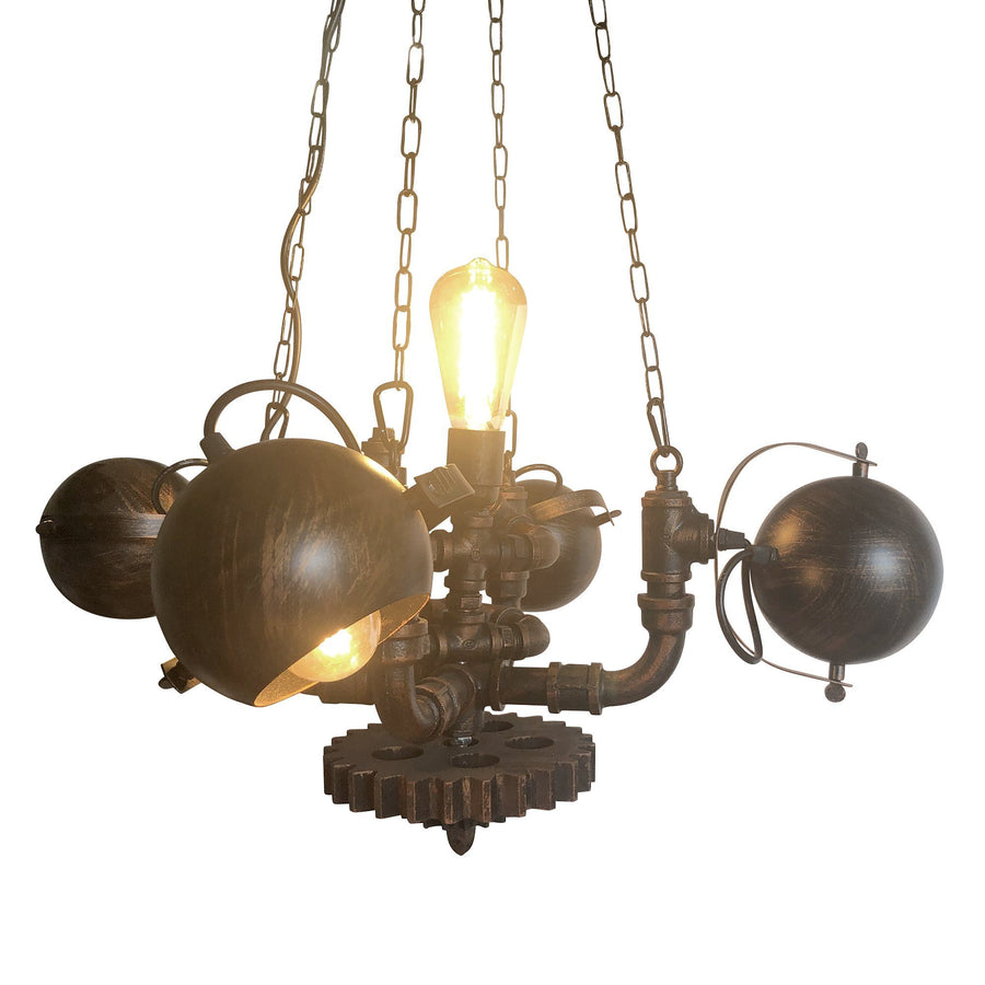 Steampunk Chandelier Lighting Rustic Deco