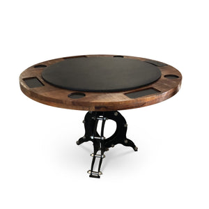 "Steampunk Industrial Game Table 48"" Poker Table Game Rustic Deco"