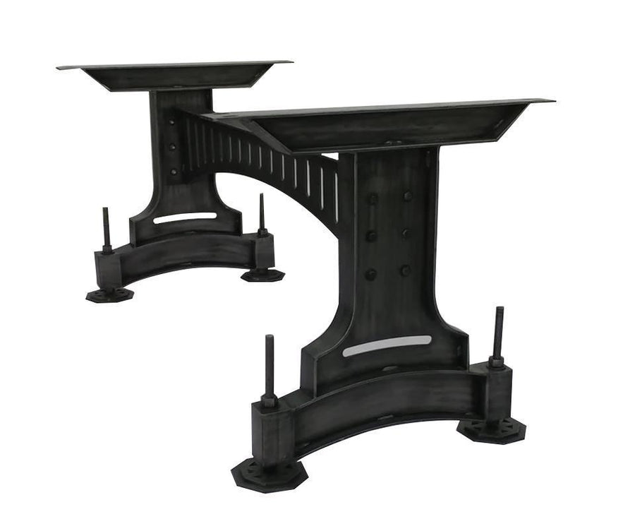 Steampunk Metal Adjustable Table Base - Dining to Counter Height - Rustic Deco Incorporated