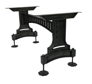 Railway Bridge Metal Adjustable Table Base - Dining to Bar Height-Rustic Deco Incorporated