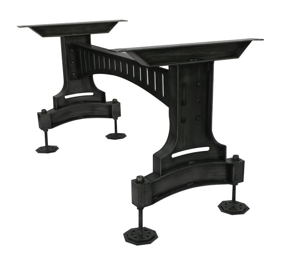 Railway Bridge Metal Adjustable Table Base - Dining to Bar Height - Rustic Deco Incorporated