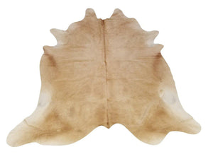 Tan Brazilian Genuine Quality Cow Hide Area Rug Wall Hanging XL 6x8' - Rustic Deco Incorporated