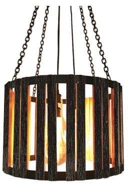 "The 24"" Division Street Blackened Pendant-Rustic Deco Incorporated"