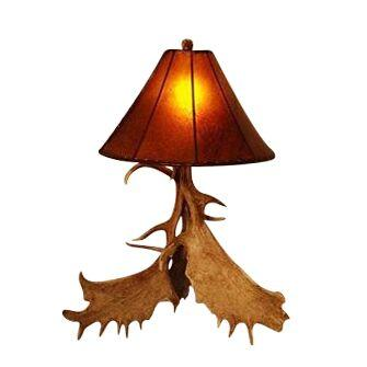 Genuine 3 Antler Fallow Table Lamp - Handmade - Western - Rustic-Rustic Deco Incorporated
