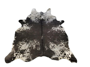 X Large Genuine Brazilian Cowhide Rug - Tri-Color Brown Black 8' - Rustic Deco Incorporated