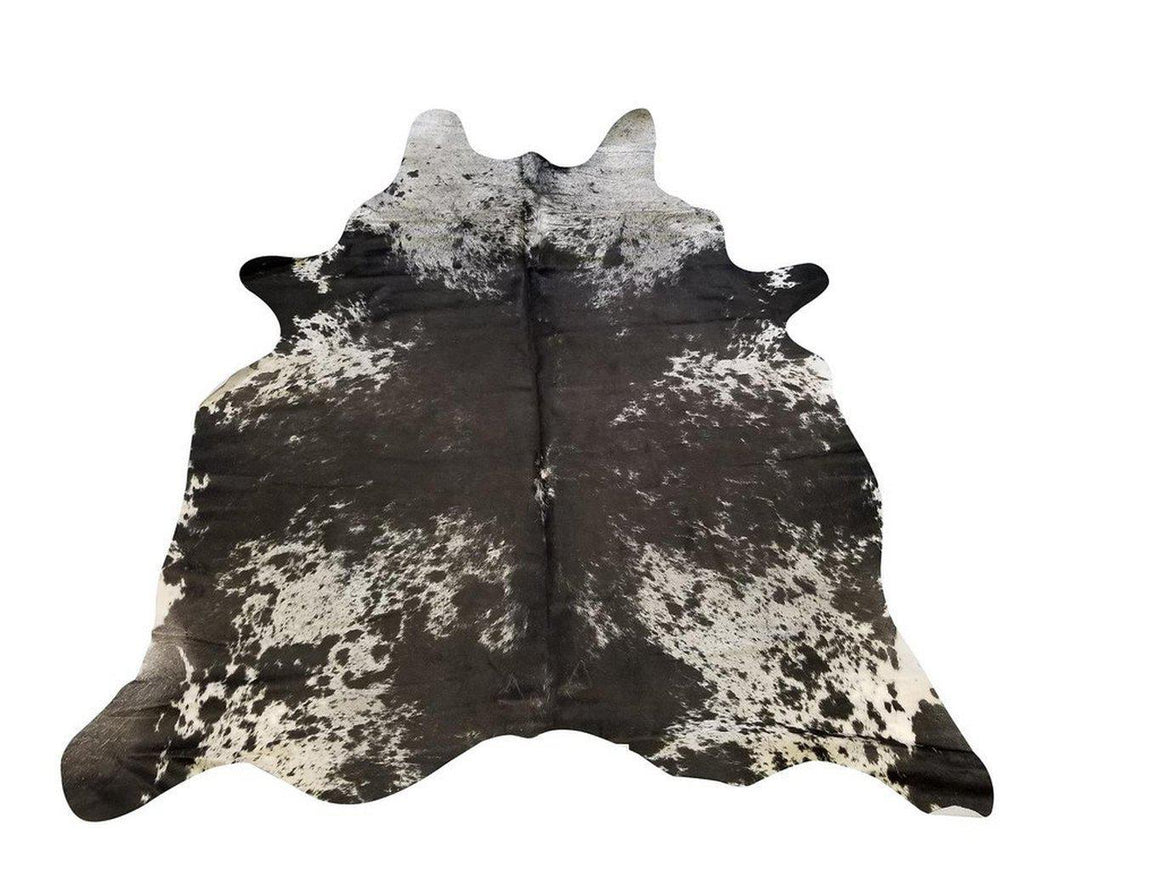 X Large Genuine Brazilian Cowhide Rug - Tri-Color Brown Black 8'-Rustic Deco Incorporated