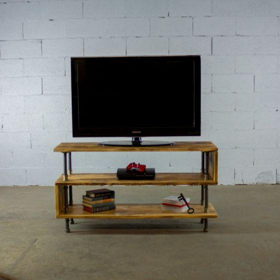 Tucson Modern Industrial Pipe TV Stand - Rustic Deco Incorporated