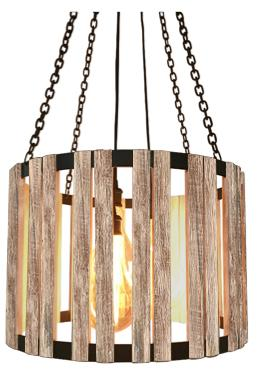 "Whitewash Barnwood Pendant Division Street 24"" Diameter-Rustic Deco Incorporated"