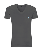 V-Neck Men's/Unisex T-Shirt with small logo