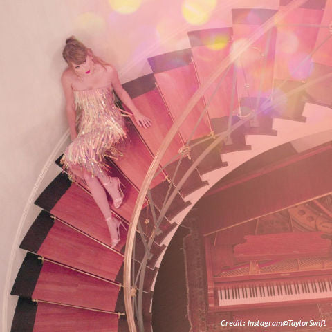 Land of Meow-Taylor Swift on Stairs