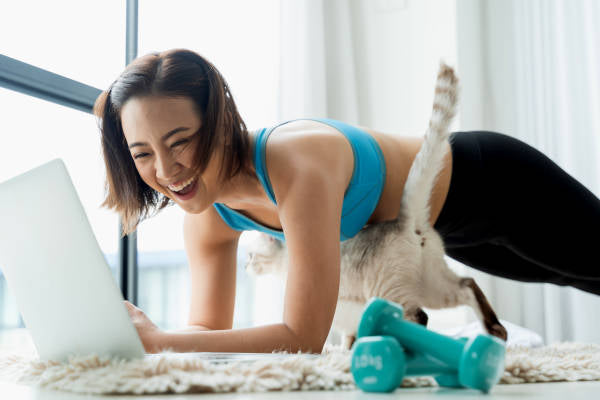Land of Meow - Exercise Girl with Cat