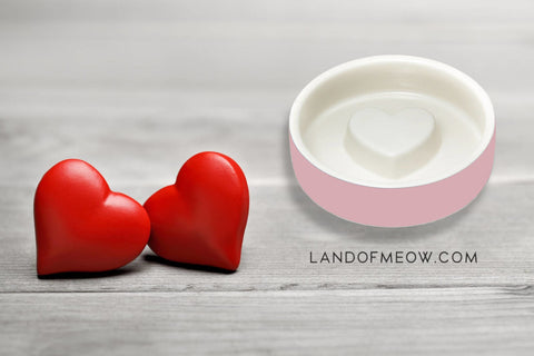 Pink bowl with hearts