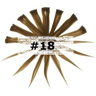10. REMY CLIP IN HIGHLIGHTS LIGHTEST BROWN (#18)