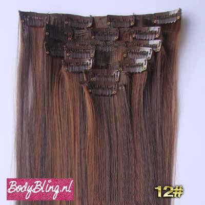12 BRAZILLIAN STRAIGHT HAIR EXTENSIONS P4/30