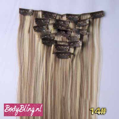 14 BRAZILLIAN STRAIGHT HAIR EXTENSIONS P8/613