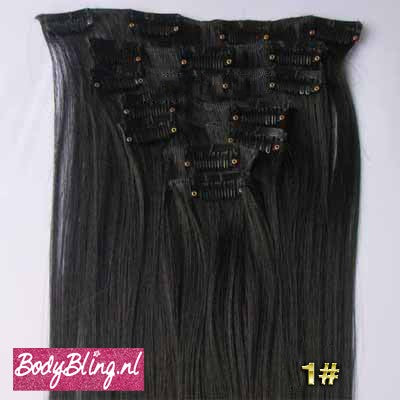 01 BRAZILLIAN STRAIGHT HAIR EXTENSIONS 1#