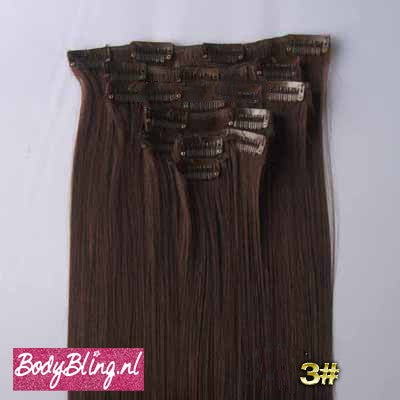 03 BRAZILLIAN STRAIGHT HAIR EXTENSIONS 4#