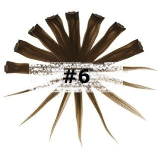 20. REMY CLIP IN HIGHLIGHTS LIGHT/CHESTNUT BROWN (#6)