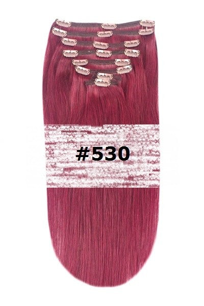 29. CLIP-IN PLUM / CHERRY RED (#530)