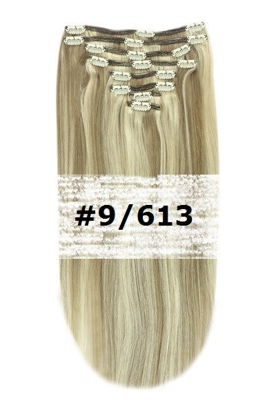 19. CLIP-IN ASH BROWN BLEACH BLONDE MIX #9/613
