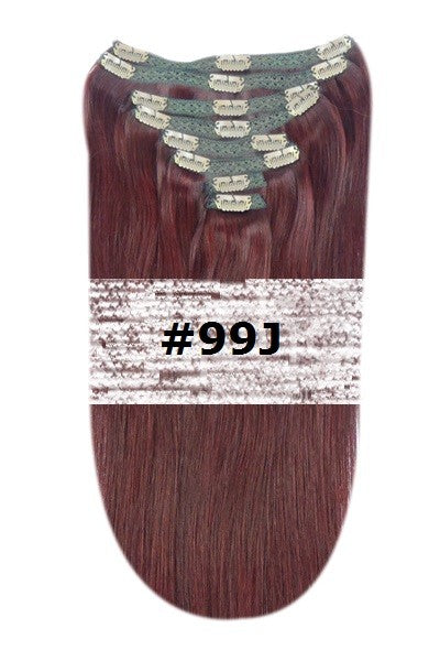 24. CLIP-IN MAHOGANY RED #99J