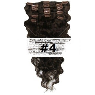 04. CLIP-IN WAVY MEDIUM BROWN #4
