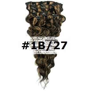 05. CLIP-IN WAVY NATURAL BLACK/BLONDE MIX #1B/27