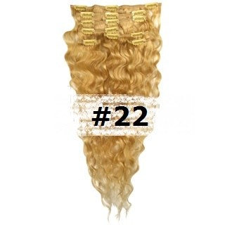 13. CLIP-IN WAVY LIGHT ASH BLONDE #22