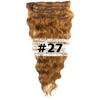 16. CLIP-IN WAVY GINGER BLONDE #27