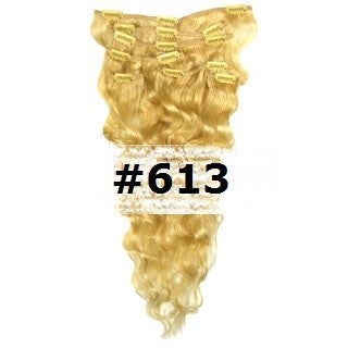 14. CLIP-IN WAVY BLEACH BLONDE #613