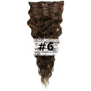 07. CLIP-IN WAVY LIGHT BROWN #6