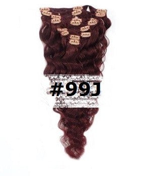 24. CLIP-IN WAVY MAHOGANY RED #99J
