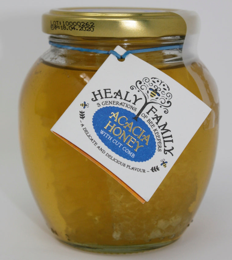Healy Family Acacia Honey with cut honeycomb