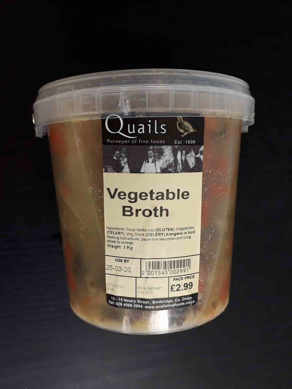 Quails Vegetable Broth