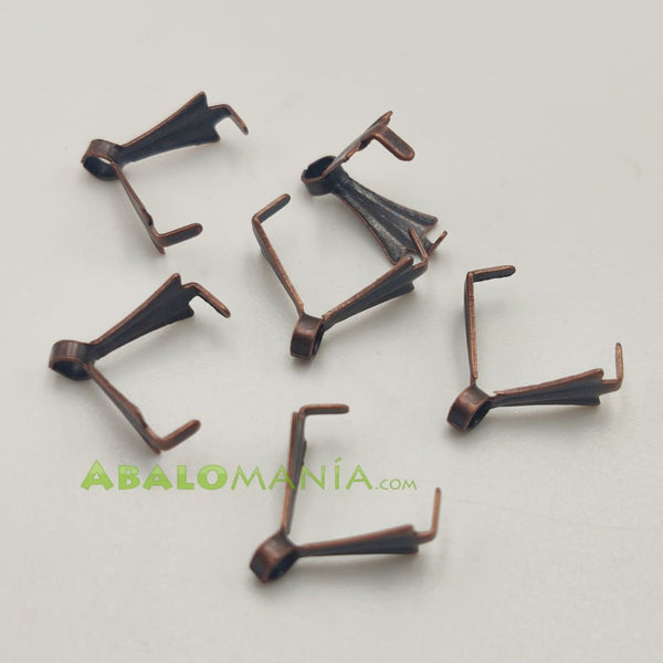 Anilla triangular / Color bronce / 11mm x 3mm / Paquete de 6 unidades