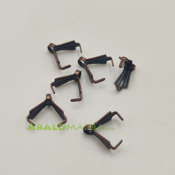 Anilla triangular / Color bronce / 9mm x 3mm / Paquete de 6 unidades