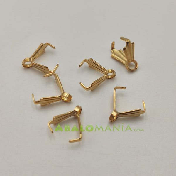 Anilla triangular / Color oro / 9mm x 3mm / Paquete de 6 unidades