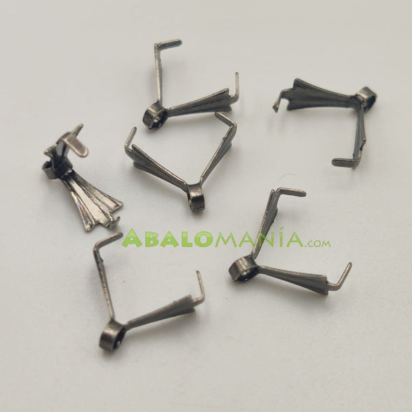 Anilla triangular / Color plata antigua / 11mm x 3mm / Paquete de 6 unidades