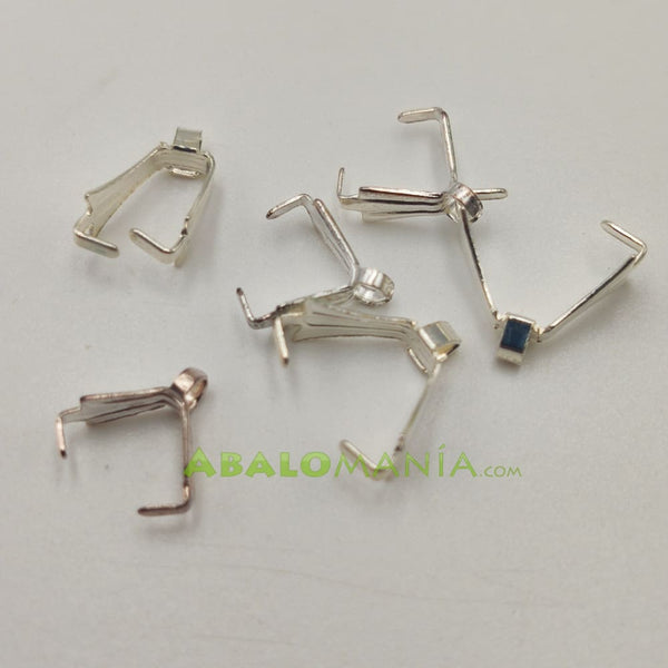 Anilla triangular / Color platino / 9mm x 3mm / Paquete de 6 unidades