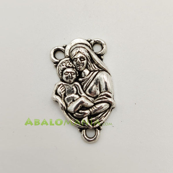 Ave María / Modelo 13 / Color plata / 21mm x 11mm