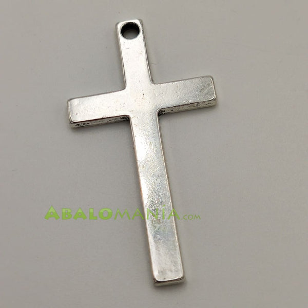 Crucifijo / Modelo 18 / Reversible / Color plata / 52mm x 29mm