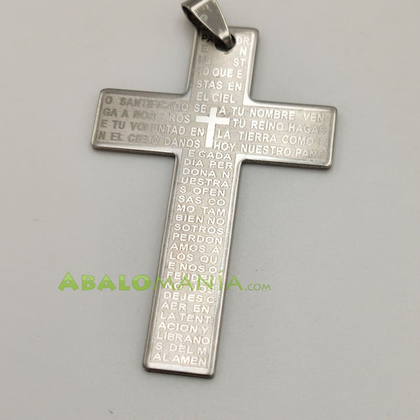 Crucifijo / Modelo 20 / Color plata / 54mm x 35mm