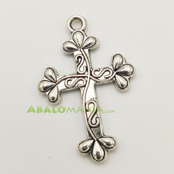 Crucifijo / Modelo 7 / Color plata / Reversible / 35mm x 24mm