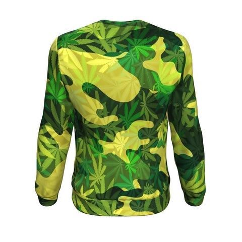 Best Cannabis Camo All-Over 420 Sweatshirt From The High Council
