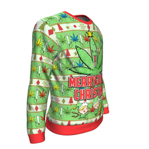 Best Merryjuana Ugly Christmas Sweater From The High Council