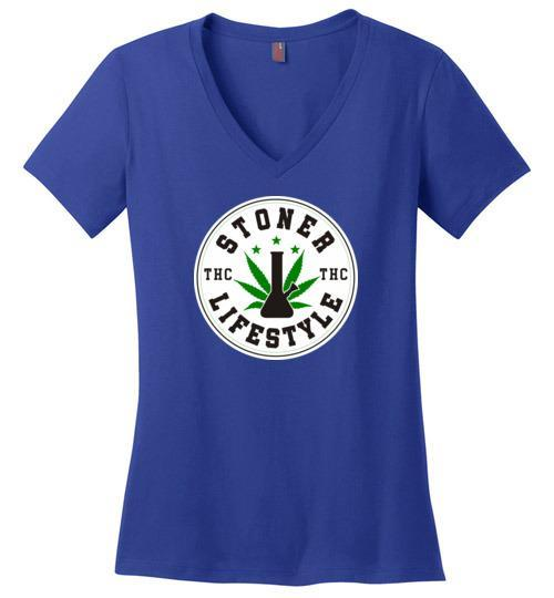 Best Stoner Lifestyle Ladies V-Neck From The High Council