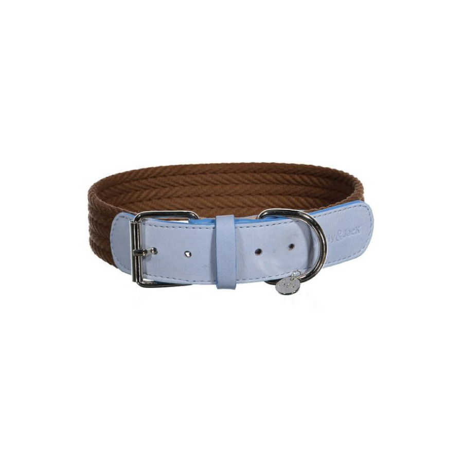 Denim Collar - Brown&Blue